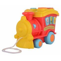 Locomotiva muzicala Winfun pentru copii, de tras, cu melodii si sunete