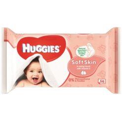 Servetele umede Huggies Soft Skin 56 buc